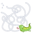 Layout for game labyrinth find a way iguana vector image vector image