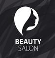 logo for female hair salon vector image vector image