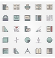 Math icons set vector image vector image