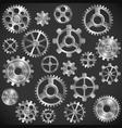 Metal gears vector image vector image