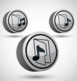 Microphone icon isolated 3d music theme design vector image vector image
