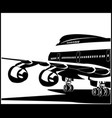modern jet airplane vector image vector image