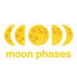 Moon phases design isolated on white background vector image vector image