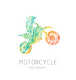motorcycle creative grunge silhouette vector image vector image
