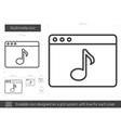 Multimedia line icon vector image vector image