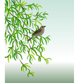 nightingale on a branch vector image vector image