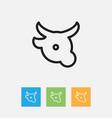 of meal symbol on veal outline vector image