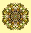ornament hand drawn mandala colorful vector image vector image