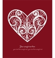 Ornamental heart postcard vector