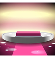 Pink disco podium vector image