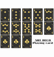 playing cards club suit poker cards original vector image