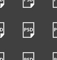 PSD Icon sign Seamless pattern on a gray vector image vector image