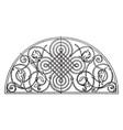 renaissance lunette panel is a german design made vector image vector image