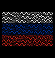 russian flag mosaic of sinusoid wave icons vector image vector image