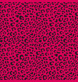 seamless leopard pattern design animal pink and b vector image vector image