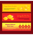 set chinese new year banner design vector image vector image