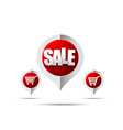 Set of sale tag pin banner 006 vector image vector image