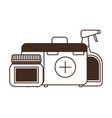 silhouette first aid kit on white background vector image vector image