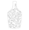 Silhouettes of drunken bodies vector image vector image