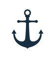 simple anchor icon nautical symbol vector image vector image