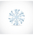 snowflake - cut from paper vector image vector image