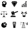 stock exchange icon set vector image