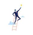 successful businessman climbing career ladder vector image