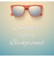 Summer vintage background Sandy beach and vector image