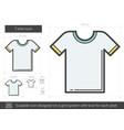T-shirt line icon