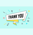 than you ribbon banner with text thank you vector image vector image
