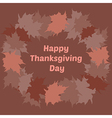 Thanksgiving Day greeting card vector image