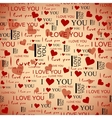 Valentines Seamless Pattern vector image vector image