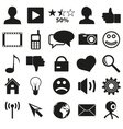 web and social networks set of simple icons eps10 vector image