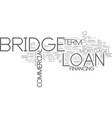 what is a bridge loan text word cloud concept vector image vector image