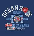 yacht ocean offshore racing sailing challenge vector image vector image