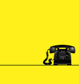 yellow background with rotary vintage telephone vector image
