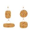 cartoon brown wooden plates vector image