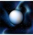 planet on deep sky vector image