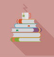 books with a cup vector image
