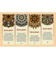 Business cards with vintage circular patterns vector image