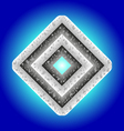 metal diamond vector image