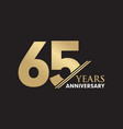 65th year anniversary emblem logo design template