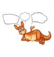 A kangaroo thinking vector image vector image