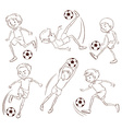 A simple sketch of the soccer players vector image vector image