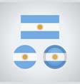 argentinian trio flags vector image vector image