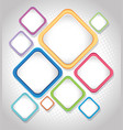 background design with colorful squares vector image