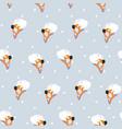ballerinas with polka dots vector image