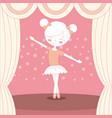 beautiful ballerina ballet on stage vector image vector image
