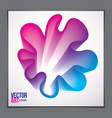beautiful flower shape with colorful gradient vector image vector image