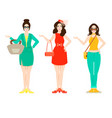 beautiful woman outfit fashion concept vector image